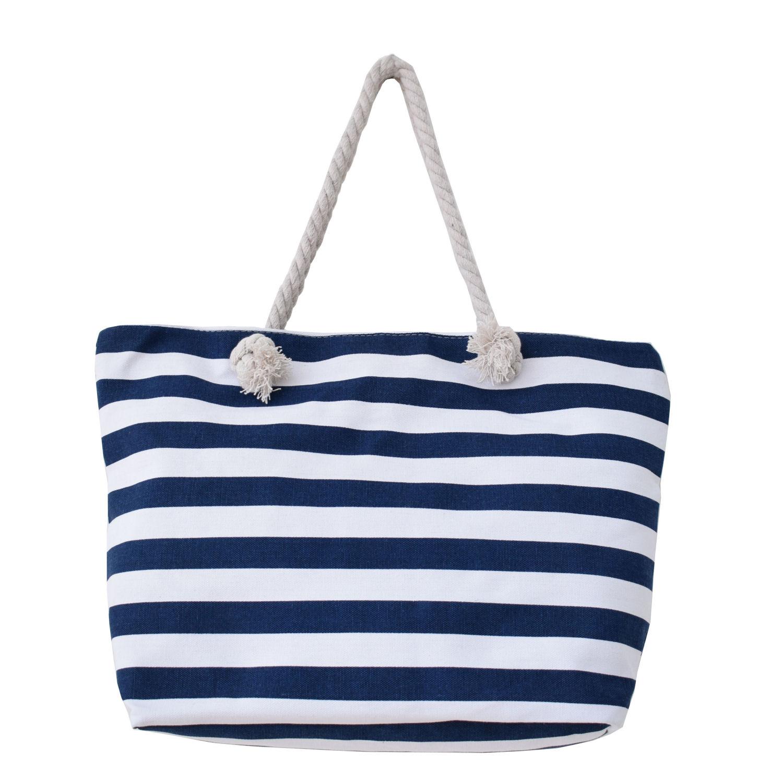 8d0f974966 Τσάντα θαλάσσης με μπλέ ρίγες - Bags   Hats